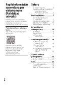 Sony HDR-CX405 - HDR-CX405 Consignes d'utilisation Letton - Page 6