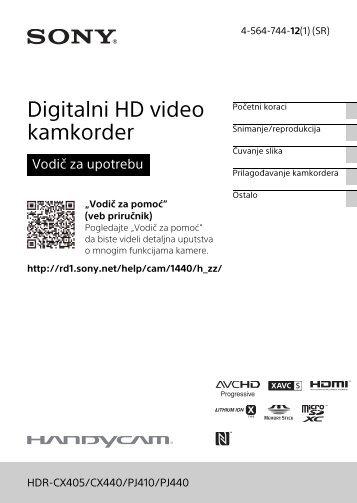 Sony HDR-CX405 - HDR-CX405 Consignes d'utilisation Serbe