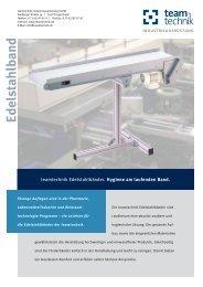 Edelstahlbänder - teamtechnik Industrieausrüstung GmbH