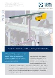 PFB 30 - teamtechnik Industrieausrüstung GmbH
