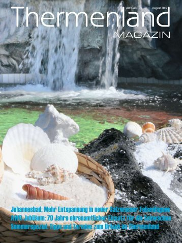 Thermenland Magazin August 2017
