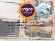 Budget Accommodation Sydney - Call us at 61293563232