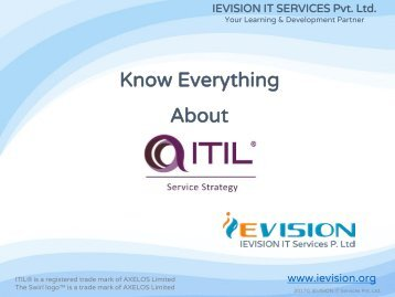 itil v3 foundation training certification course