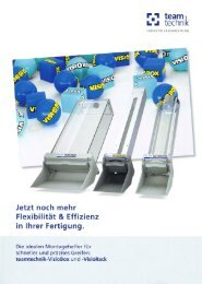 VisioBox Datenblatt - teamtechnik Industrieausrüstung GmbH