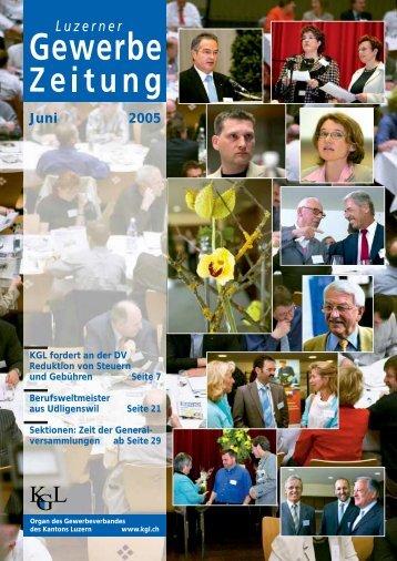 Juni 2005 - Gewerbeverband des Kantons Luzern