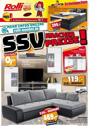 preise zum abstauben bei rolli sb m belmarkt. Black Bedroom Furniture Sets. Home Design Ideas