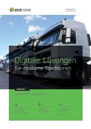 Lösungsbroschüre Logistik