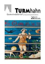 Turmhahn 2011-01 - Evangelischer Kirchenbezirk Gaildorf