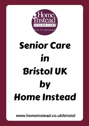Senior Care in Bristol UK by Home Instead