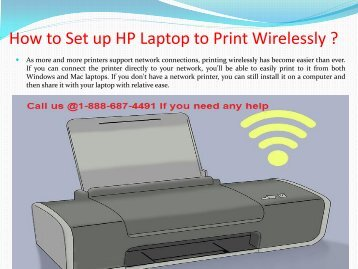 #8886874491# How to Setup HP Laptop to Print Wirelessly?