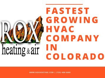 FASTEST GROWING HVAC COMPANY IN COLORADO
