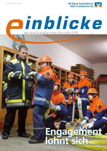 """""""Einblicke"""" Ausgabe Nr. 4 - Januar 2010 - VR Bank Schwäbisch Hall ..."""