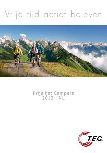 Prijslijst Campers 2013 - NL - TEC Caravans