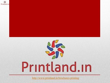Corporate Brochure Printing Online in India, Customized Company Brochure Samples