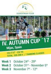 +++ Costa del Sol Equestrian Tour  +++ Autumn Cup +++