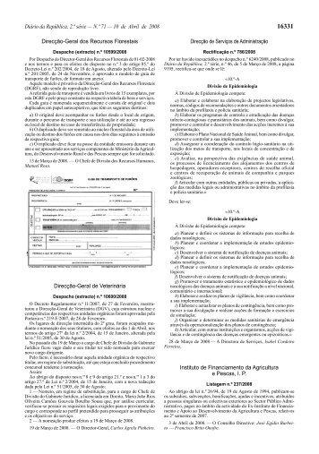 Diário da República, 2.ª série — N.º 71 — 10 de Abril ... - DRAP Centro