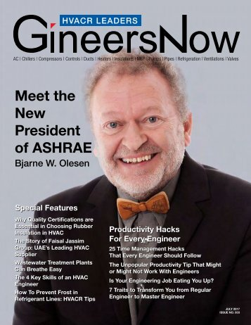 HVACR Leaders Magazine: Meet the New President of ASHRAE, Bjarne W. Olesen