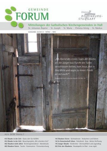 Ausgabe 2/2012 - Gesamtkirchengemeinde Schwäbisch Hall