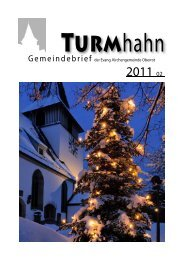 Turmhahn 2011-02 - Evangelischer Kirchenbezirk Gaildorf