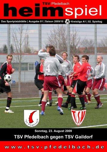 TSV Pfedelbach gegen TSV Gaildorf