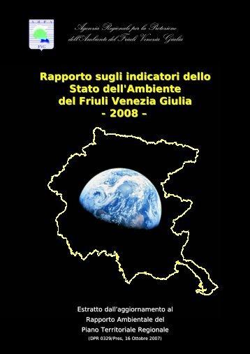 Rapporto sugli indicatori dello Stato dell'Ambiente del ... - ARPA FVG