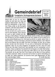 Gemeindebrief - Evangelischer Kirchenbezirk Gaildorf