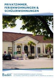 privatzimmer, ferienwohnungen & schülerwohnungen - Baden
