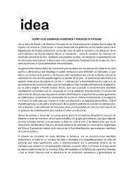 Comunicado de los expresidentes que conforman el Grupo IDEA sobre la crisis en Venezuela