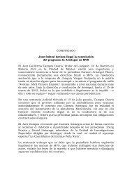 COMUNICADO  ARISTEGUI  27072017