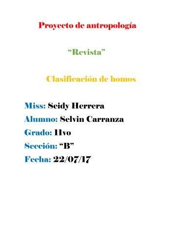 Proyecto de antropología selvin