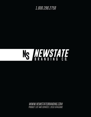 Newstate™ Branding Co. | 2018 Catalog