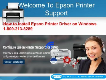 How to install Epson Printer Driver on Windows 1-800-213-8289