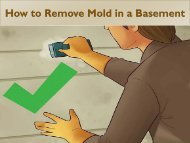 How to Remove Mold in a Basement