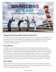 Warriors At Ease-Supporting Those Who Serve & Sacrifce