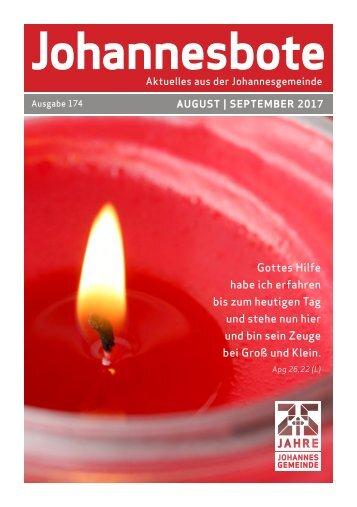 Johannesbote #174 August/September 2017