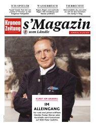 s'Magazin usm Ländle, 30. Juli 2017