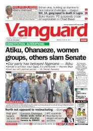 28072017 -  Atiku, Ohanaeze, women groups, others slam Senate