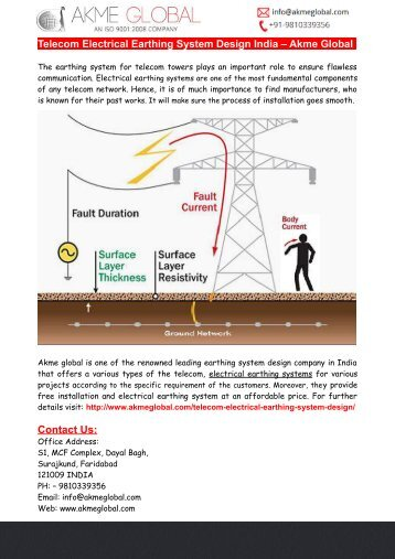 Telecom Electrical Earthing System Design India – Akme Global