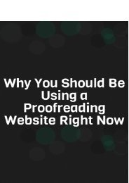 Why You Should Be Using a Proofreading Website Right Now