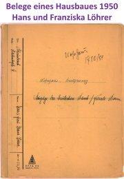 1952 - Wohnhaus Ziegelei - Originalbelege von Anfang bis Ende erfasst. Teil 2
