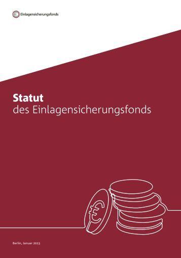 Statut des Einlagensicherungsfonds (Okt 2017)