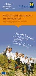 Kulinarische Gastgeber im Weinviertel - Jakobsweg Weinviertel