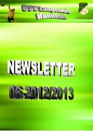 Newsletter 2012/13-06 - USV Langenlois Handball