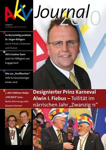 Designierter Prinz Karneval Alwin I. Fiebus – Tollität im ... - AKV