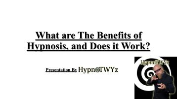 What are The Benefits of Hypnosis