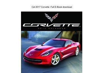 Cal 2017 Corvette  Full