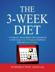 THE 3-WEEK DIET