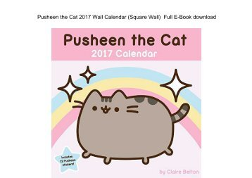 Pusheen The Cat 2017 Wall