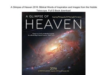 A Glimpse of Heaven 2016