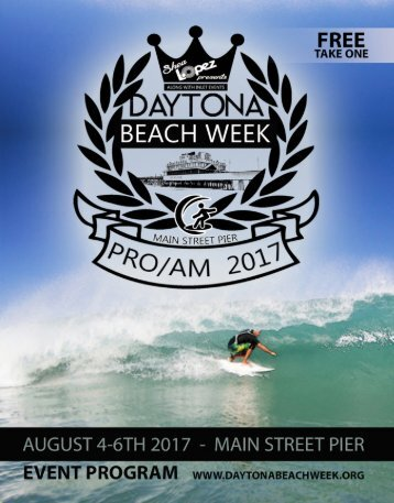 Daytona BEACH WEEK event program
